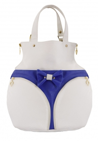 POPKA BAG White Blue